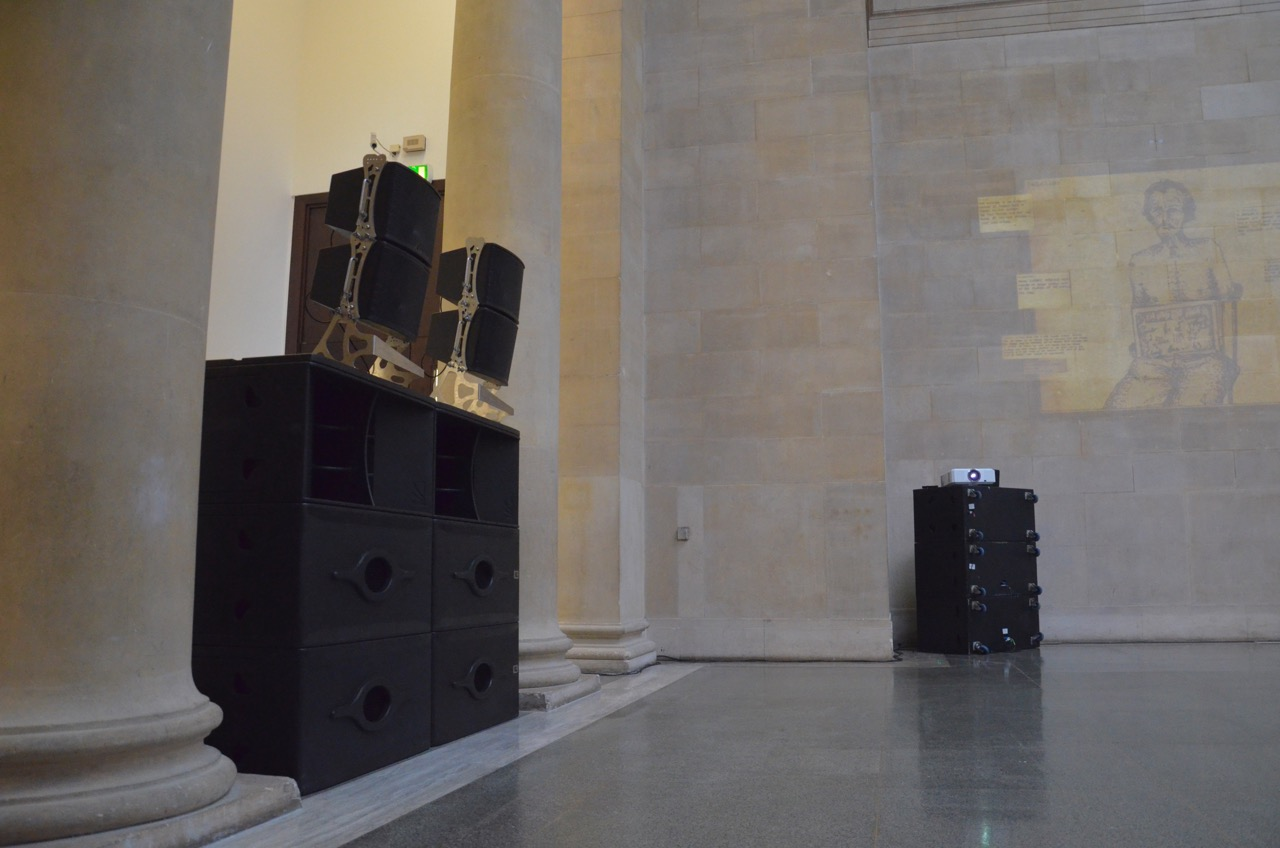 Traction bass bins at Tate Britain